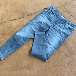 "Grey skinny jeans 9"" rise"